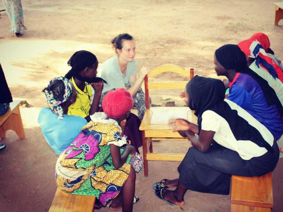 La enfermera Ana Sáez durante su voluntariado en la República del Chad (África).