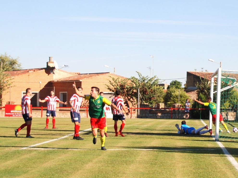Celebración del único gol conseguido por el San Lorenzo