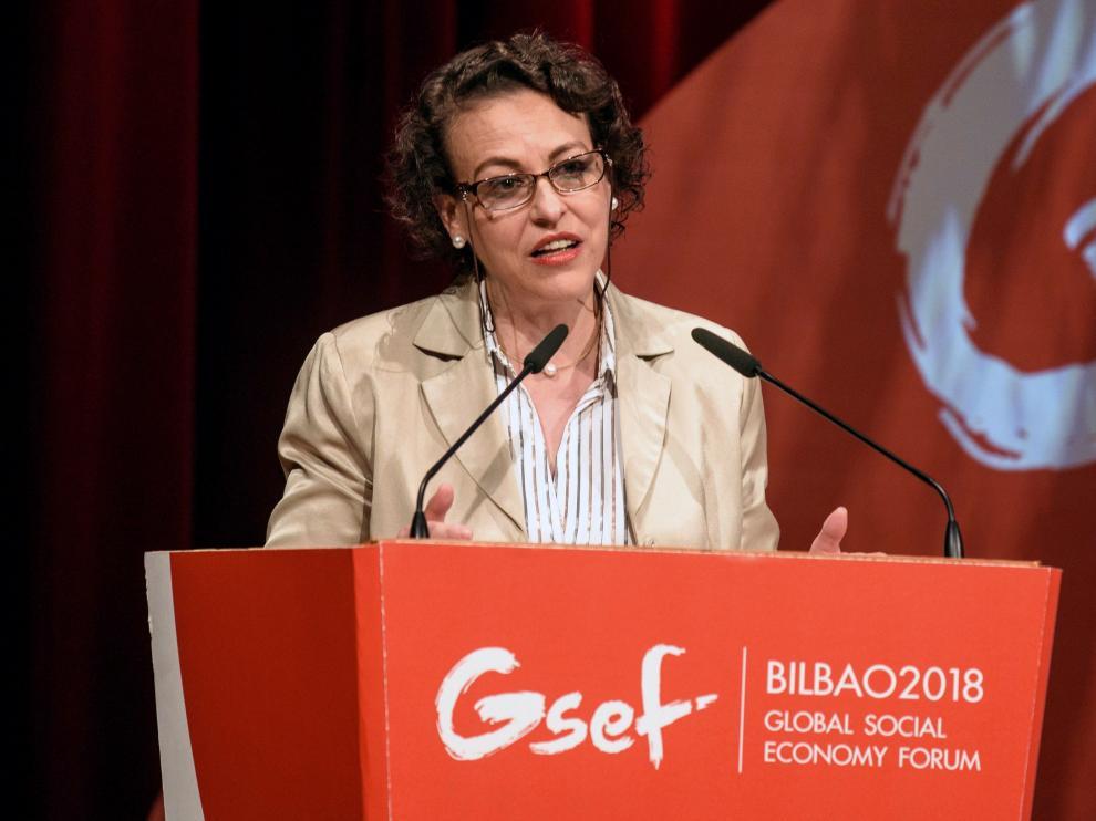 Magdalena Valerio, la titular del ministerio de Trabajo.