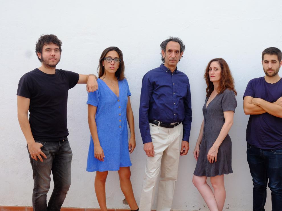 De izda a dcha, Javier Macipe, María Jáimez, José Luis Esteban, Laura Gomez-Lacueva y Cristian Alcaraz.