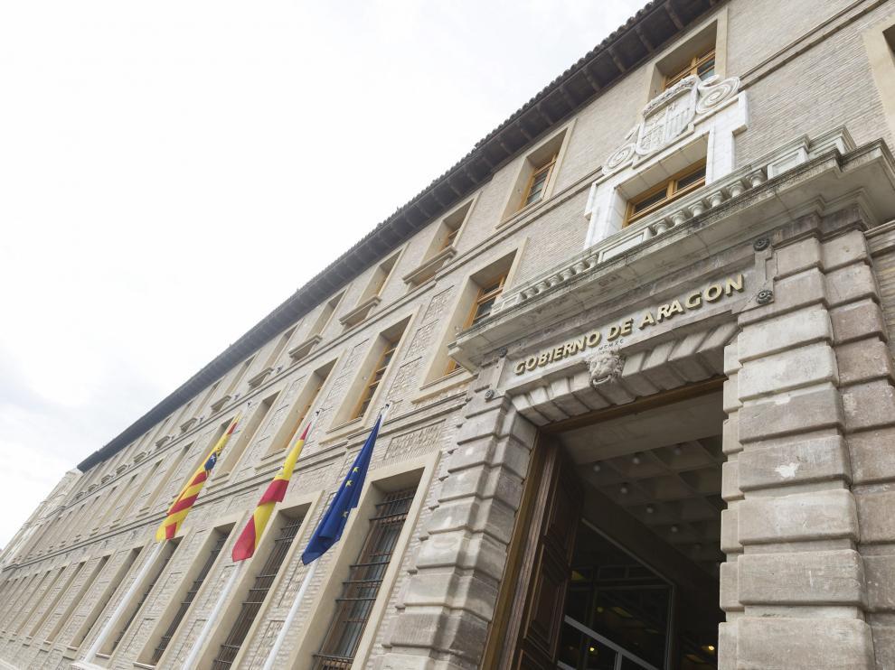 El edificio Pignatelli, sede del Gobierno de Aragón.