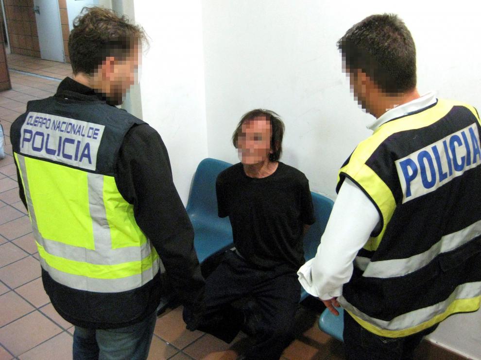 Imagen facilitada por la Policía Nacional con el rostro de Benito Ortiz Perea pixelado por el Ministerio del Interior.