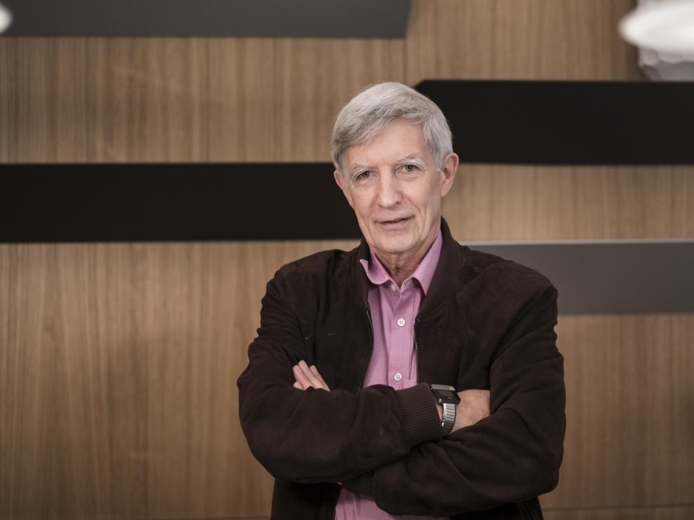 El investigador Richard Wilkinson, el viernes en el Caixafórum de Zaragoza