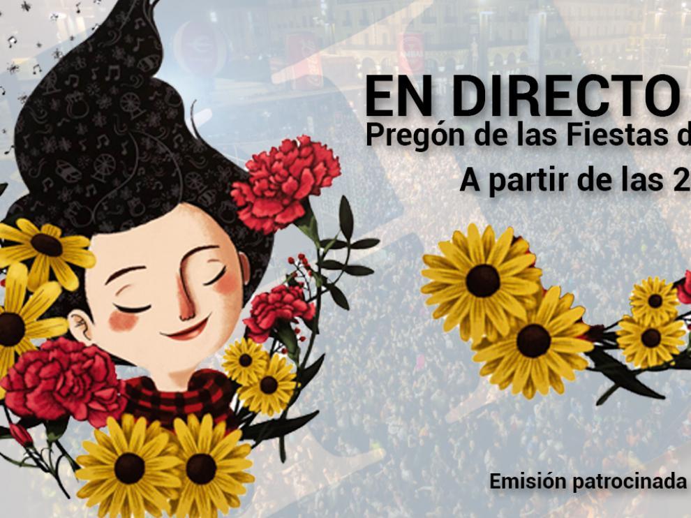 Sigue en directo el pregón de las Fiestas del Pilar en Heraldo.es