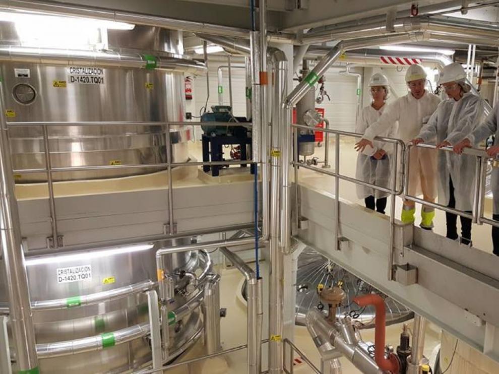 Reciente visita institucional del Gobierno aragonés a las instalaciones de la planta de Tereos en Zaragoza