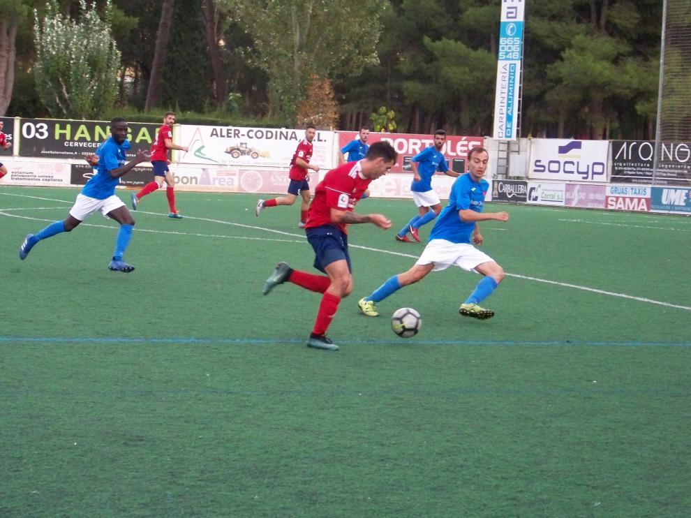 Imagen del partido disputado entre el Fraga y el Cariñena