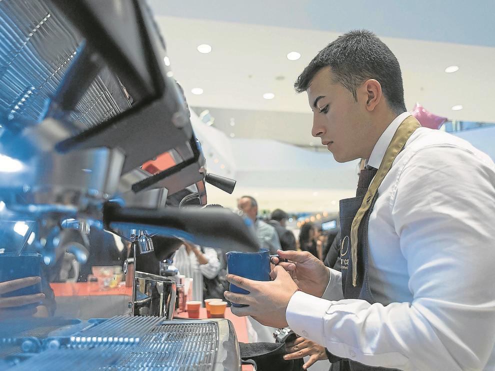 El colofón de estos siete días sobre el café fue el X Campeonato de Baristas de Aragón, la competición para decidir quién acude al campeonato nacional.