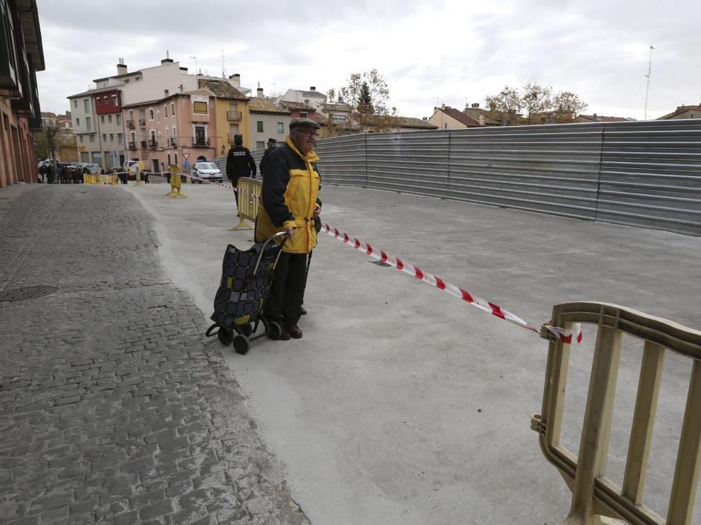 El consejero Soro anunció el proyecto para el solar de la Merced hace casi dos años, cuando se ensanchó la calle.