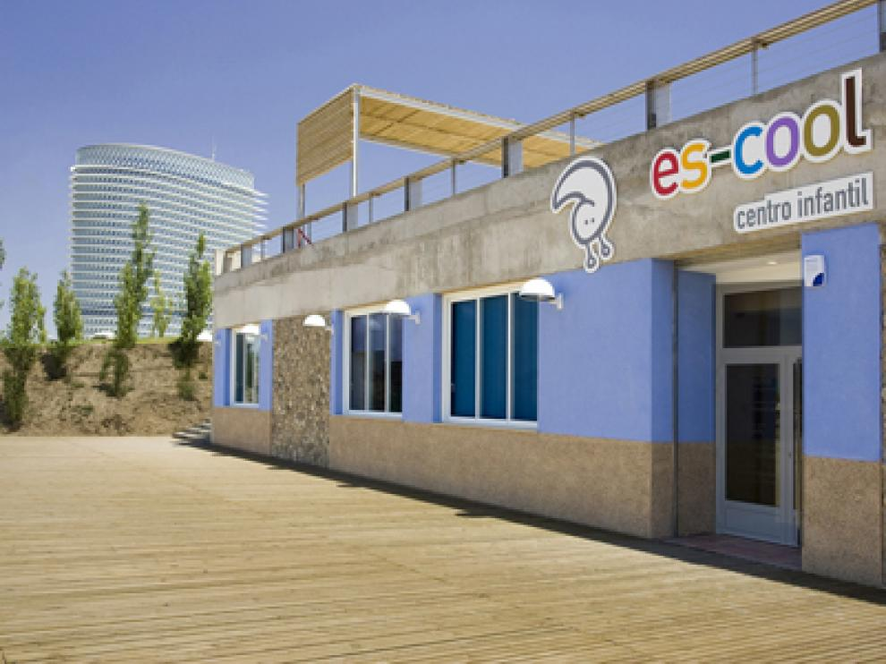 Centro de educación infantil Es-Cool, ahora cerrado.