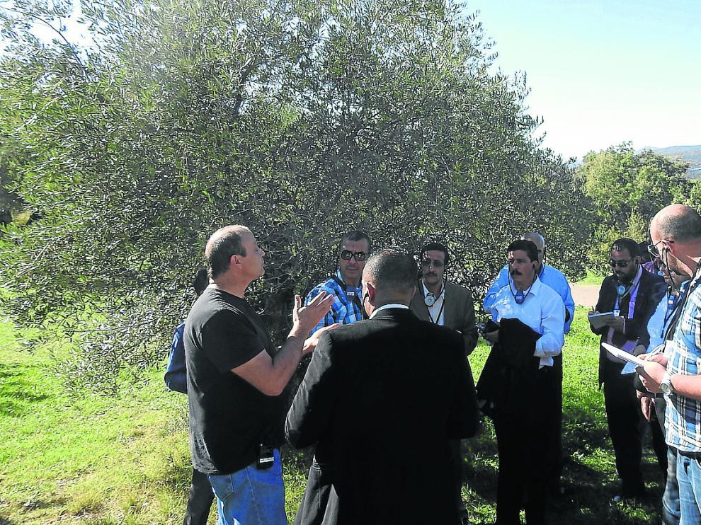 La delegación de técnicos argelinos atiende las explicaciones de los organizadores de esta iniciativa.