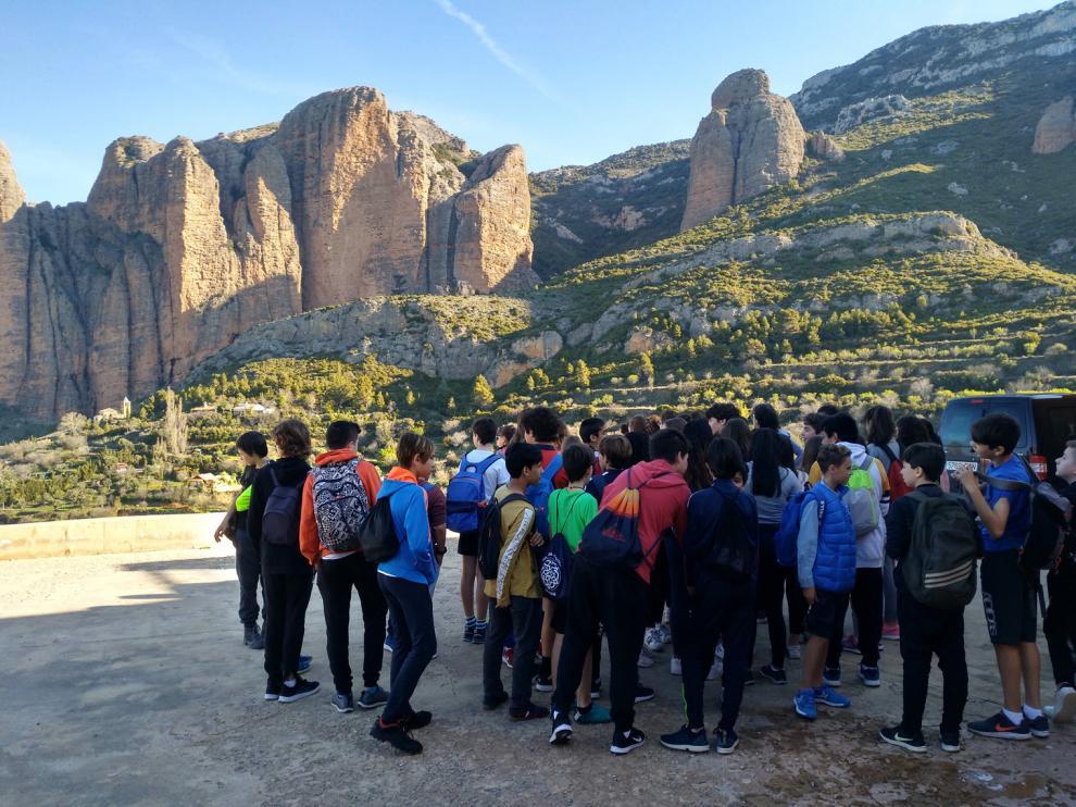 Primeras salidas de alumnos de Secundaria a espacios naturales de la zona.