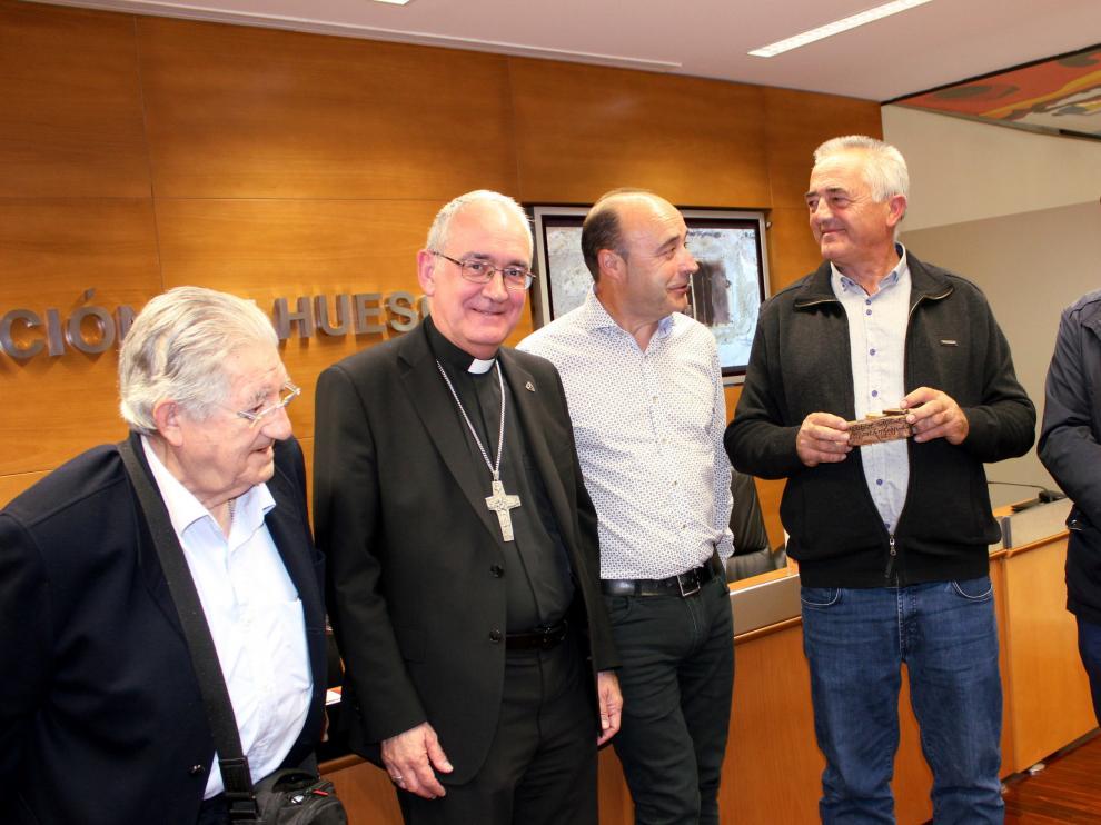 De izquierda a derecha, Calvera, Pérez, Gállego, Sesé y Campo