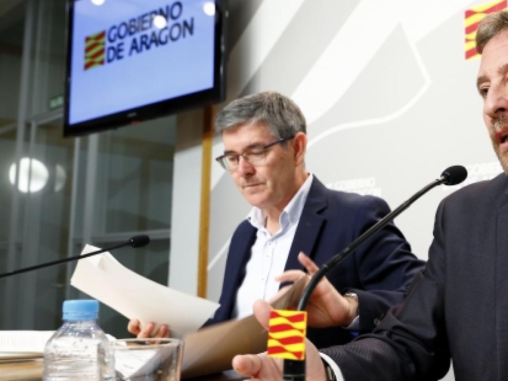 Rueda de Prensa del consejero de Presidencia, Vicente Guillén, para informar de los asuntos tratados en el Consejo de Gobierno.