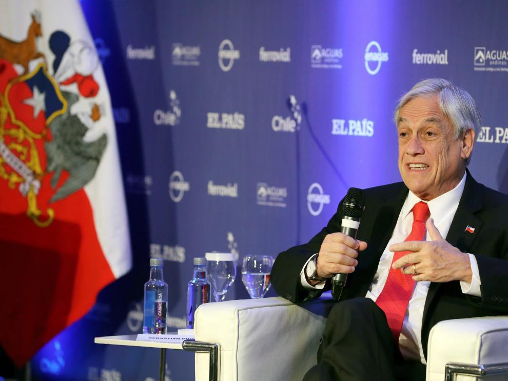 Sebastián Piñera en el foro económico de El País.