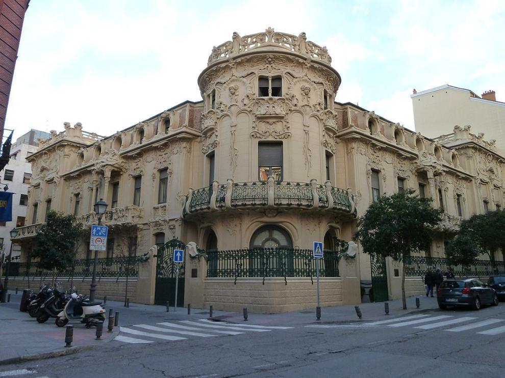 El Palacio de Longoria, sede central de la SGAE.