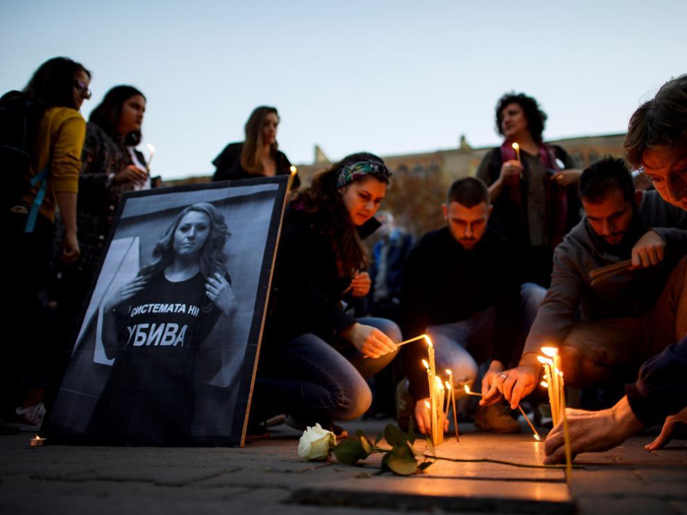 El asesinato de Viktoria Marinova generó una ola de indignación en Bulgaria y fura del país.