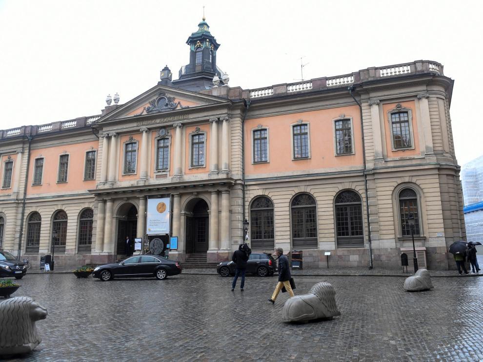 La sede de la Academia Sueca en Estocolmo.