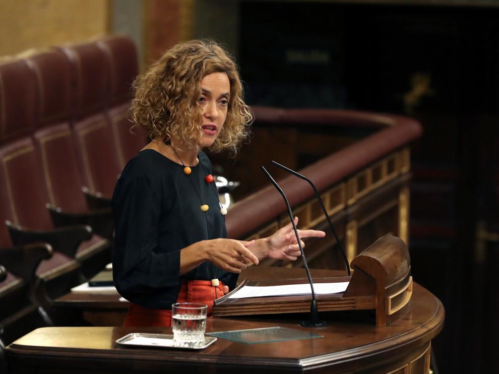 Meritxell Batet, ministra dePolítica Territorial y Función Pública, durante una sesión de control en el Congreso.