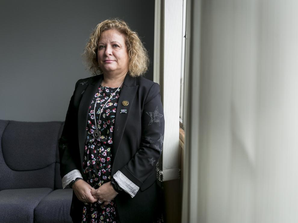 Mercedes Ortín quiere mejorar las condiciones económicas y laborales de los médicos.