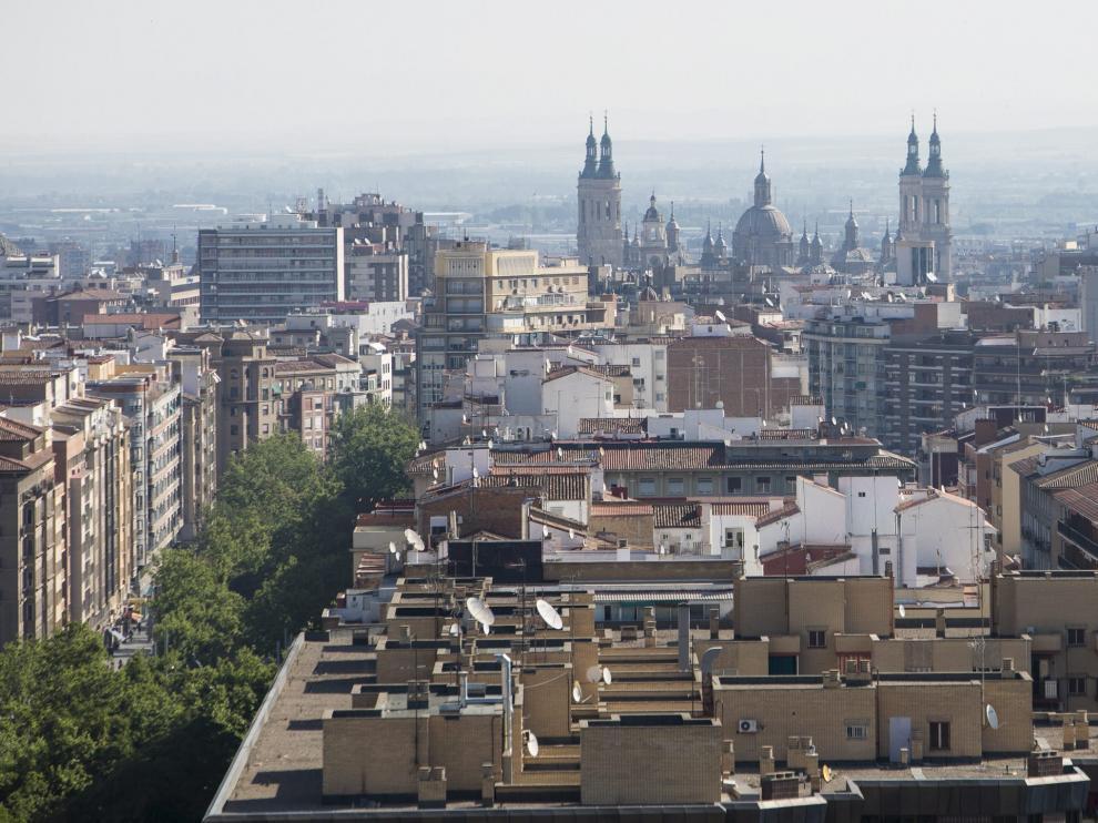 Una vista de Zaragoza.
