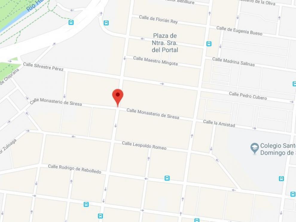 El suceso ha tenido lugar en la calle del Monasterio de Siresa.
