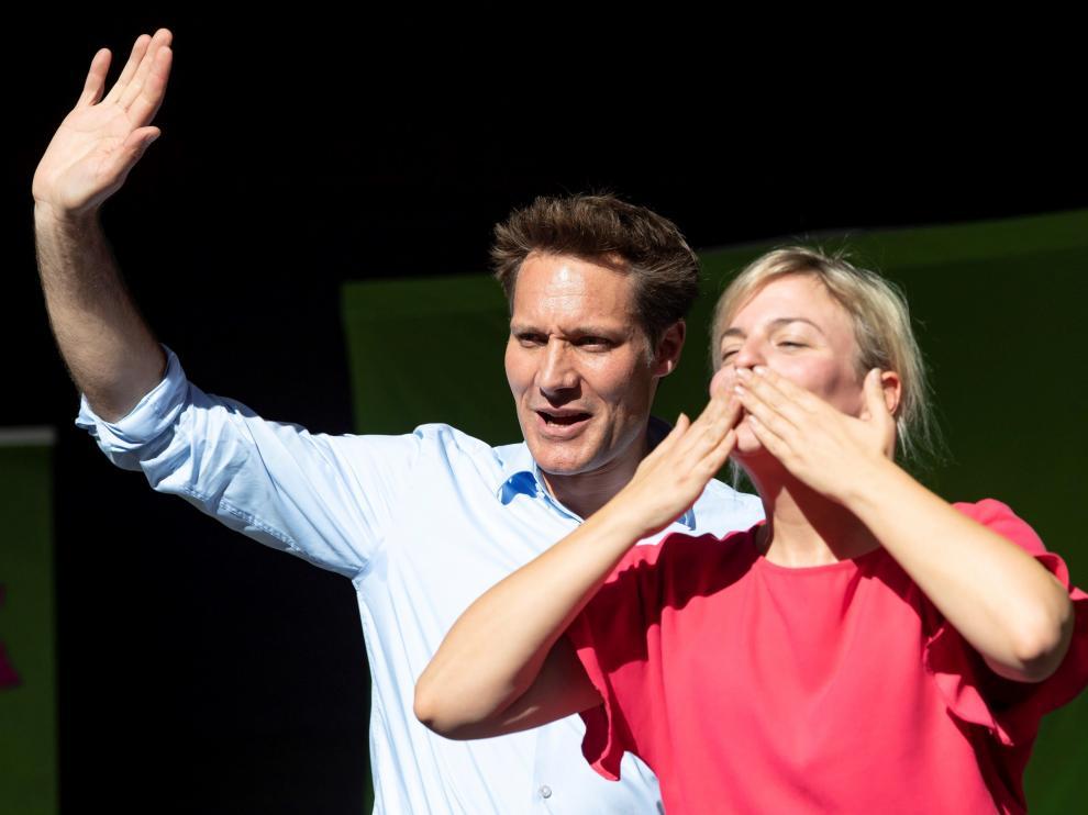 Los principales candidatos de los Verdes en Baviera, Katharina Schulze y Ludwig Hartmann.