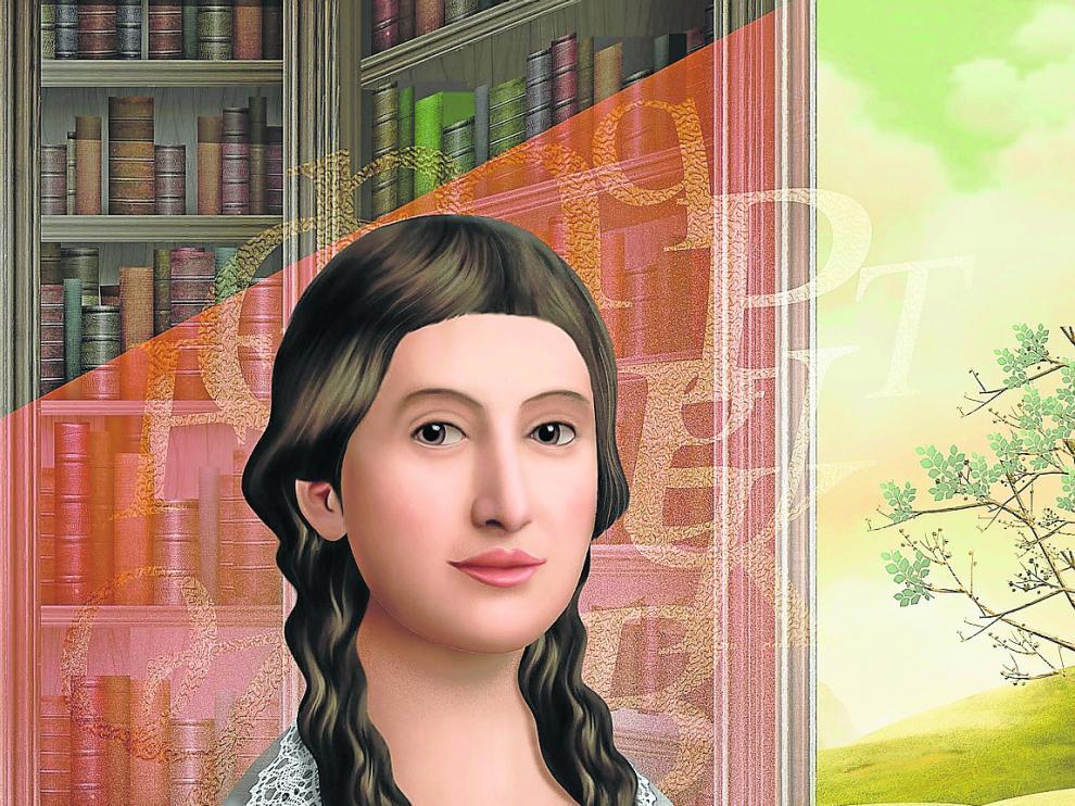 Ilustración de Óscar T. Pérez, dibujante de Valladolid, experto en álbumes ilustrados.'María Moliner'.