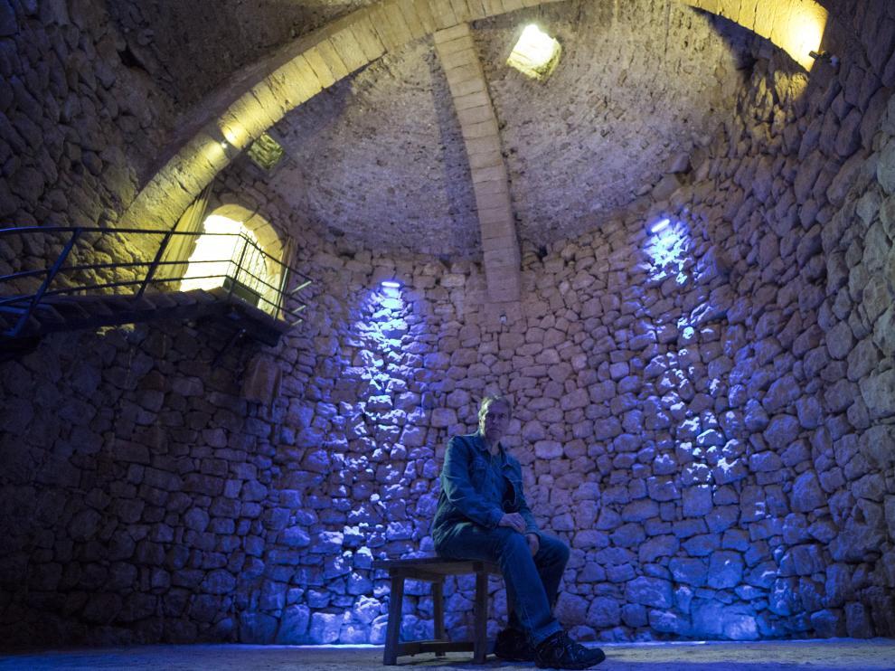Alberto Bayod, en la nevera de Belmonte.