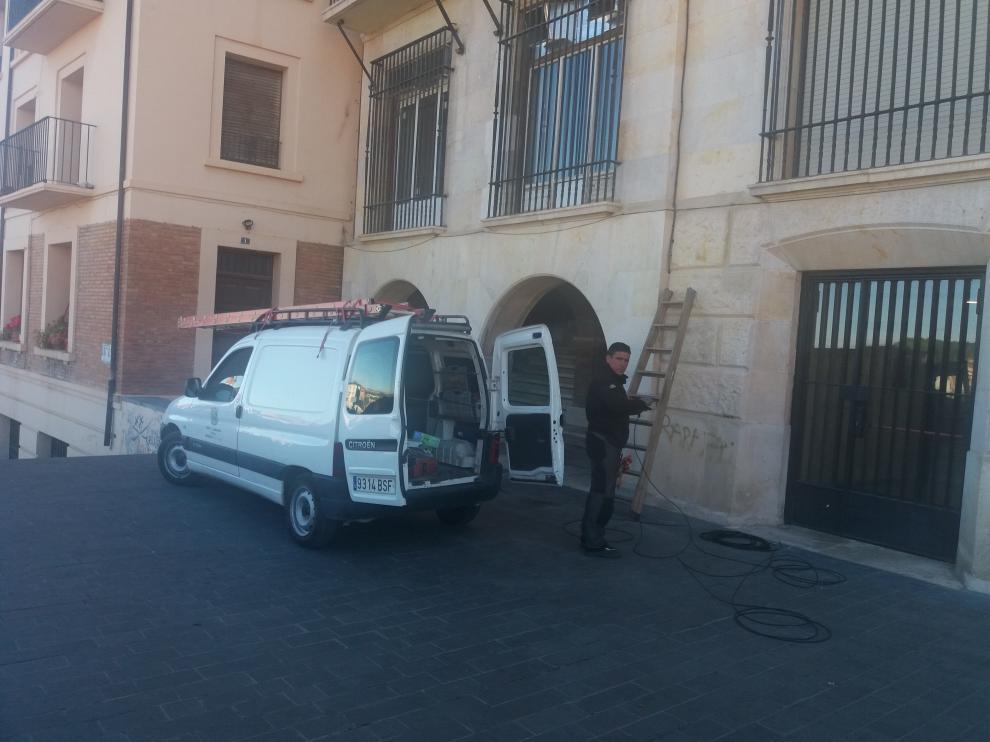 Arranca la instalación de cámaras de vigilancia en el pasaje del Deán Buj.