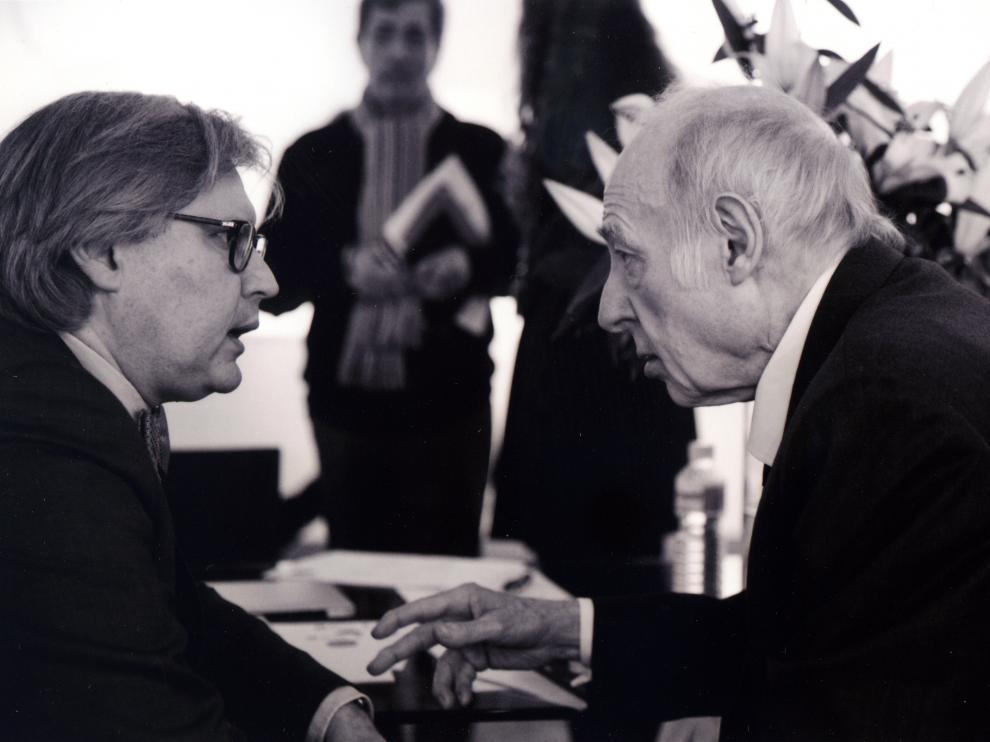 Eduardo Arroyo y Javier Fórcola en la pasada edición de ARCO.