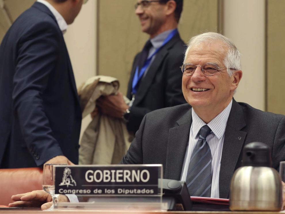 El ministro de Asuntos Exteriores, Joseph Borrel, en el Congreso de los Diputados.