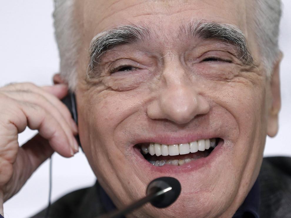 Scorsese, este miércoles en un encuentro con los medios de comunicación en Gijón.