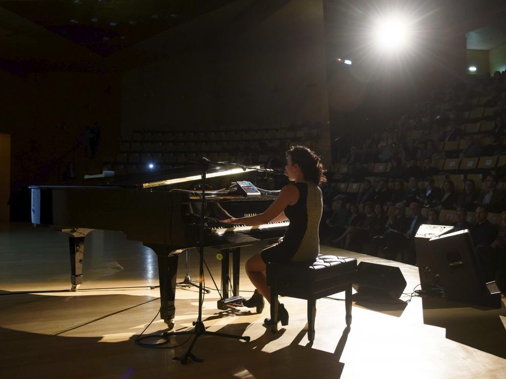 Ariadna Redondo, en una de las galas de los premios 'Artes & Letras'.