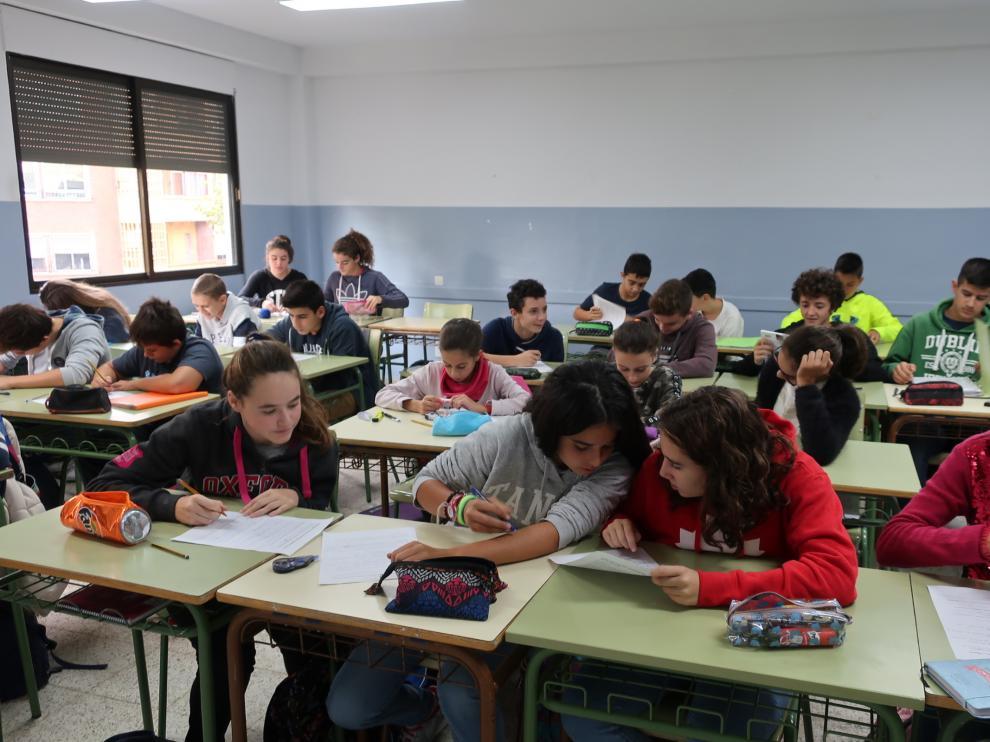 Aula de tecnificación deportiva de 2º de la ESO en el IES Goya de Zaragoza.