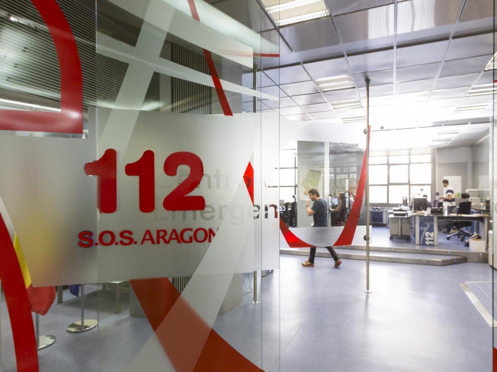 Sala central del 112 Aragón.