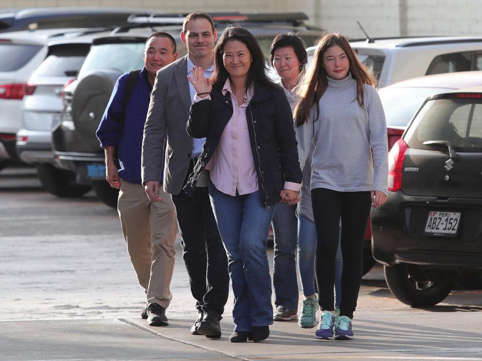 Keiko Fujimori visita a su padre en el hospital.