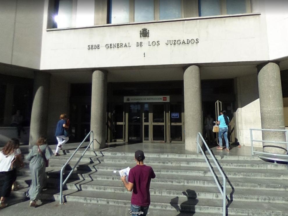 Una imagen de los juzgados de plaza de Castilla, en Madrid.
