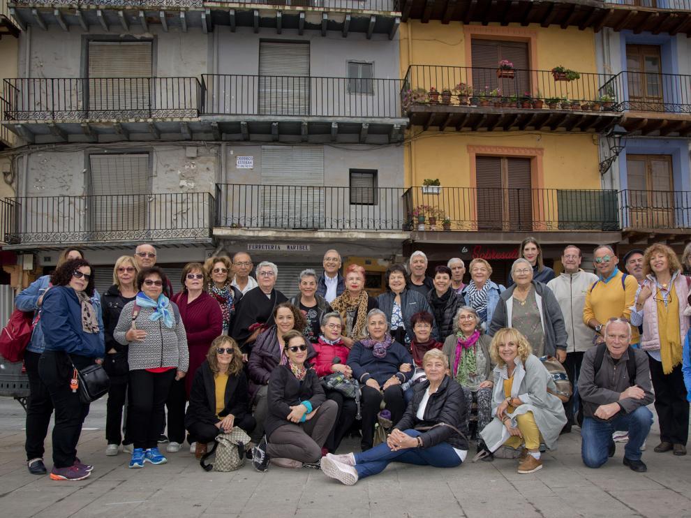 El grupo, durante su visita a Calatayud.