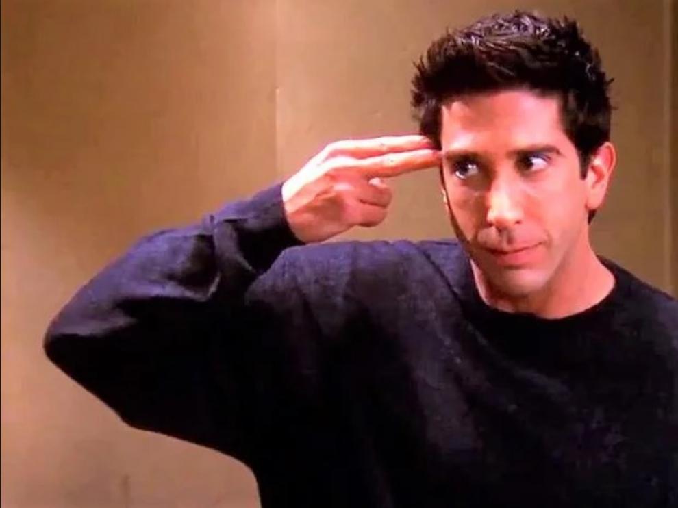Ross, en la escena en que demuestra ser experto en unagi.