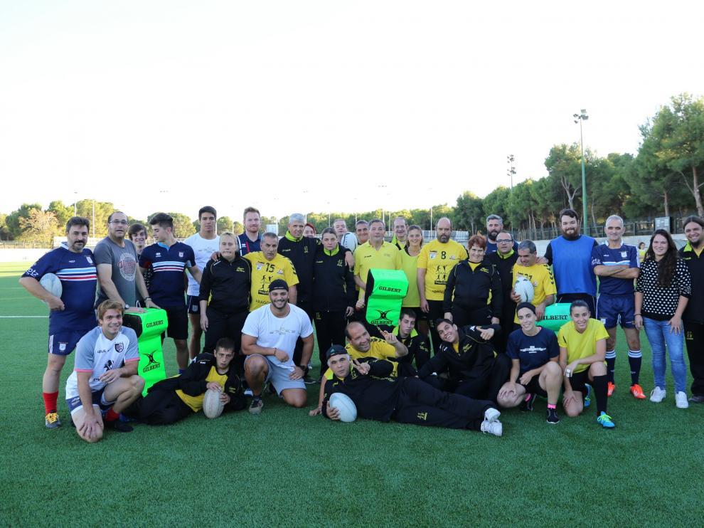 Primer entrenamiento del Fénix Rugby inclusivo