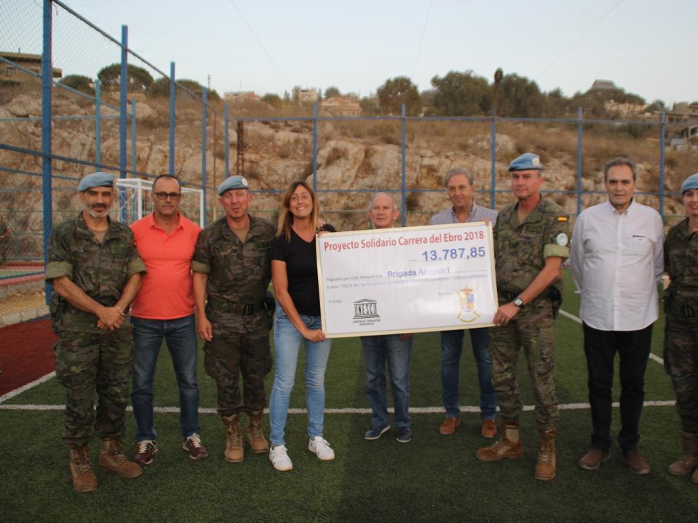 Inauguración del polideportivo en Líbano.