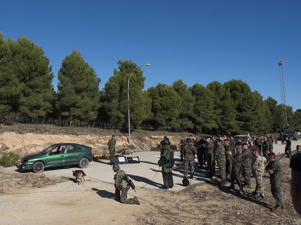 Militares de maniobras en San Gregorio.