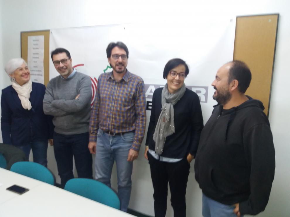 De izquierda a derecha, María Asunción Rosales, Aitor Clemente, Pedro Bello, Sofía Ciércoles y José Luis Ferrer.