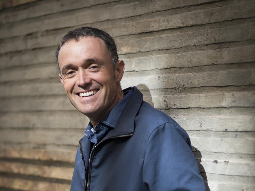 El periodista Mikel Ayestaran, el jueves en Zaragoza