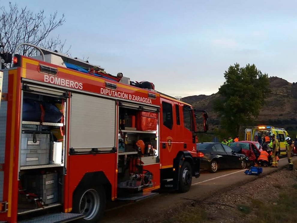 El accidente ha tenido lugar en la carretera A-1503 a 300 metros de Sabiñán.