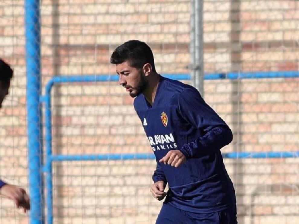 Papunashvili, en el entrenamiento de este viernes en la Ciudad Deportiva.