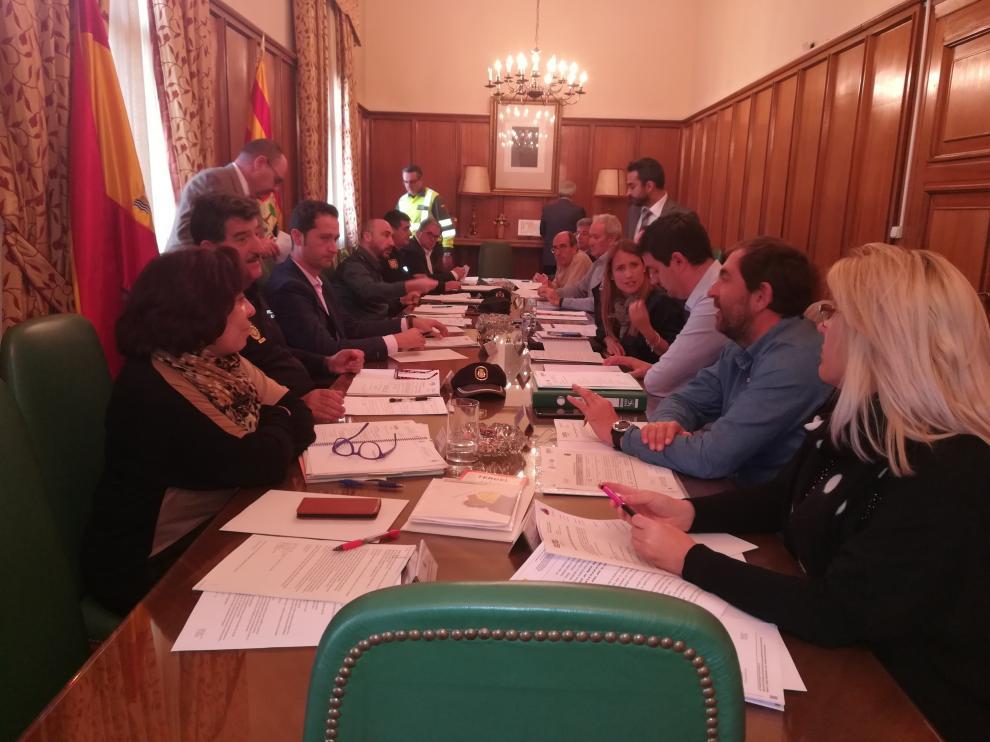 Un momento de la reunión celebrada esta mañana en la Subdelegación del Gobierno en Teruel para hablar del Plan de Vialidad Invernal