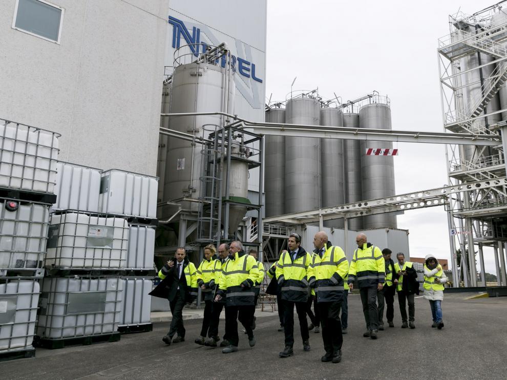 Lambán ha realizado una visita esta mañana a Nurel con motivo del 50 aniversario de la compañía aragonesa, propiedad del grupo Samca