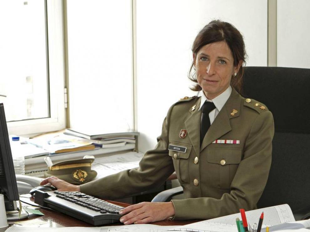 Patricia Ortega, primera mujer que podría ascender a general en las Fuerzas Armadas, en una imagen de archivo