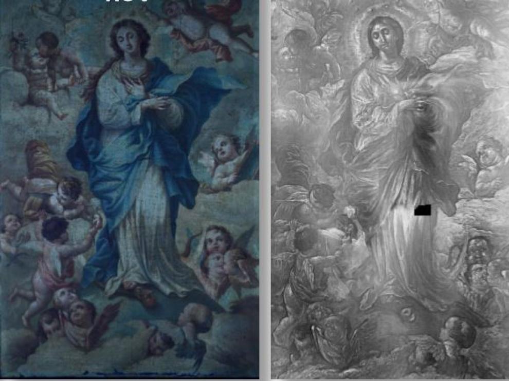 Descubrimientos tras la aplicación de nuevas tecnologías en el cuadro 'La Inmaculada'